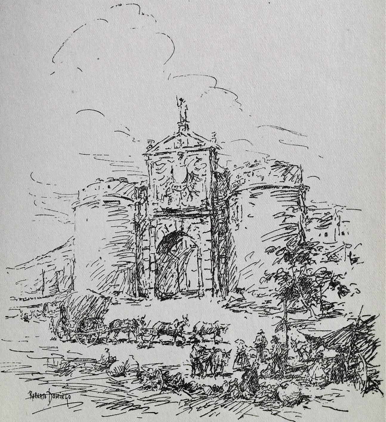 """""""Puerta de la Bisagra, en Toledo"""""""