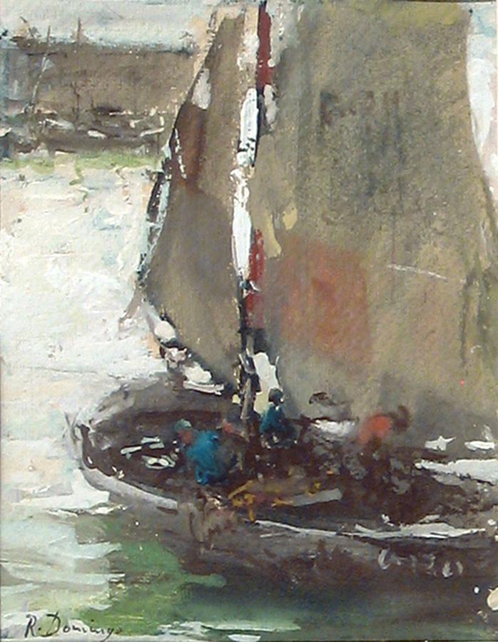 Barca de pesca en Bretana