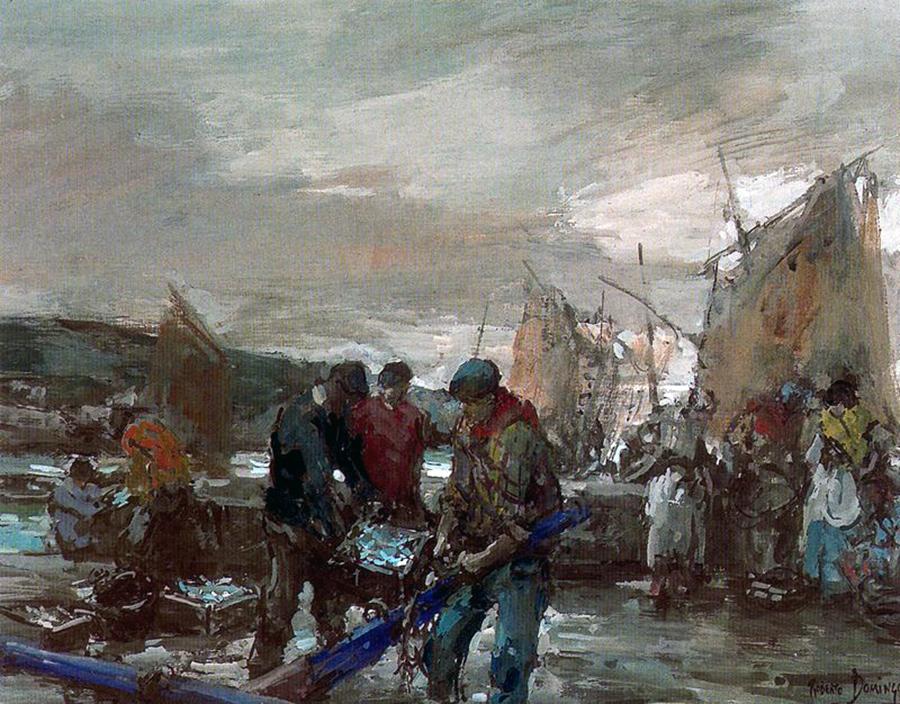 Descargando la pesca. Galicia