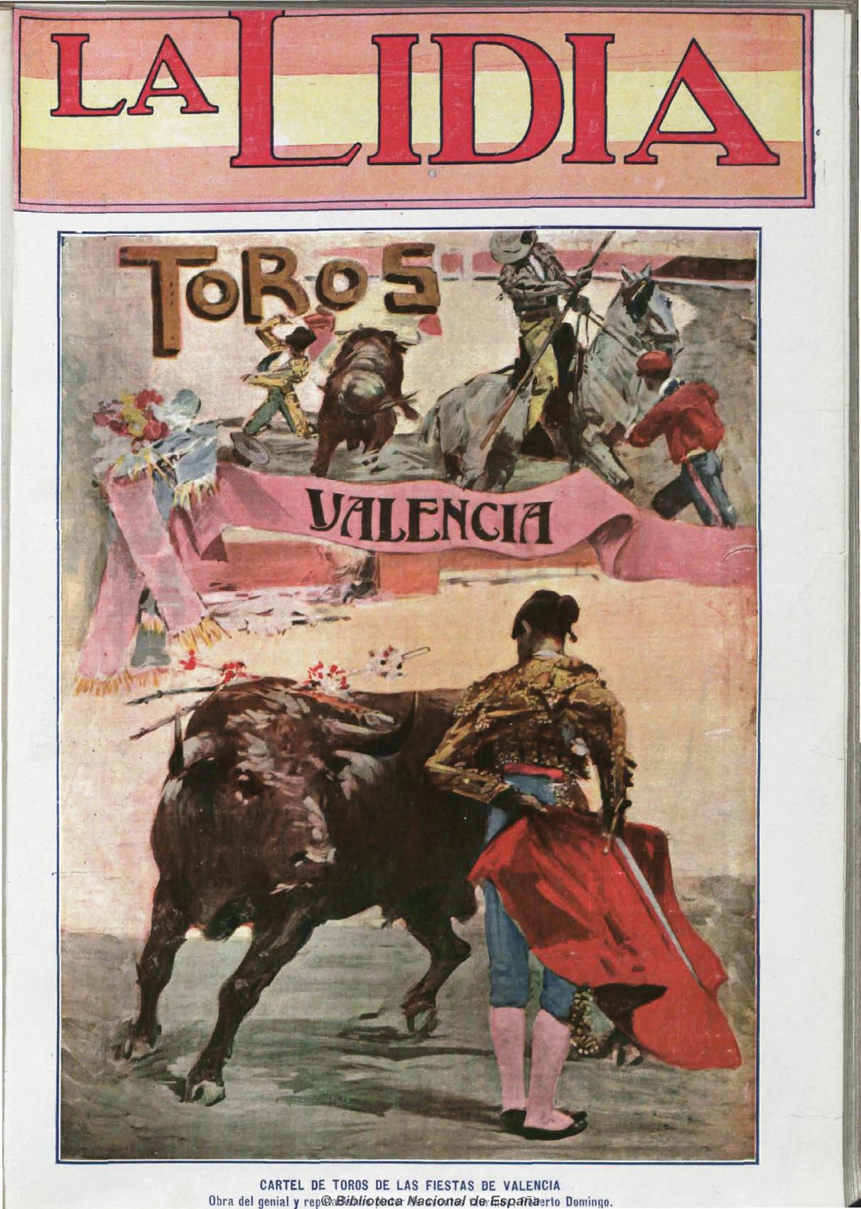Cartel de toros de las fiestas de Valencia