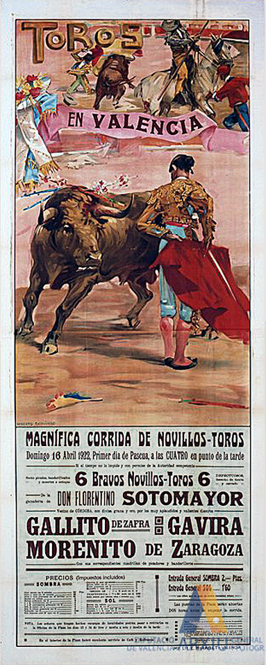 Poster of bulls, Valencia